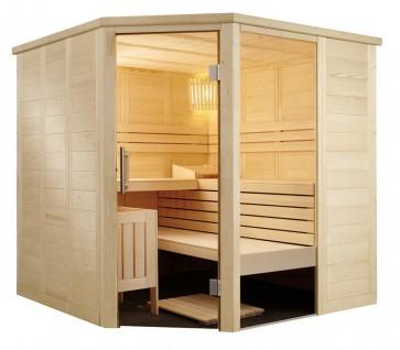 Fínska sauna Vulkán, rohová, 206x206