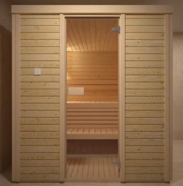 Fínska sauna, kefovaný smrek, 180x180