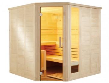 Fínska rohová sauna Relax, 206x206