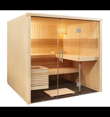 Fínska sauna Panoráma L, 214x210