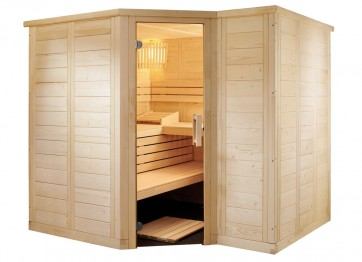 Fínska rohová sauna Magma S, 206x206