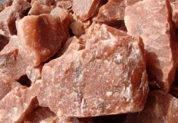 Himalájska oranžová kamenná soľ do sauny, kryštály