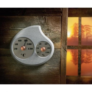 Teplomer s vlhkomerom do sauny, Maininki