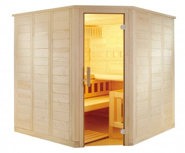 Fínska rohová sauna Agni, 206x206