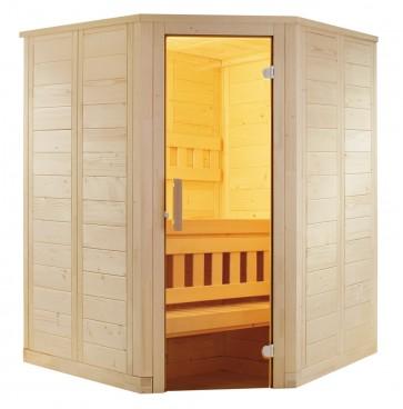 Fínska rohová sauna Agni mini, 145x145