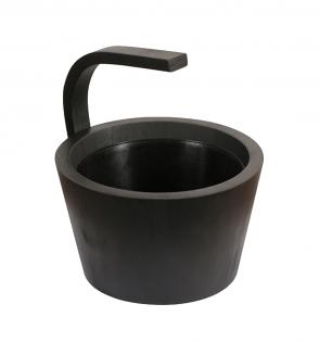 Drevené vedro do sauny LUX Black, 4l, čierne, plastová výplň