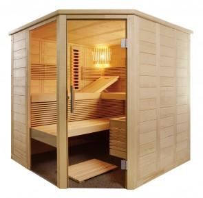 Kombinovaná rohová sauna Vulkán, Infra+, 206x206