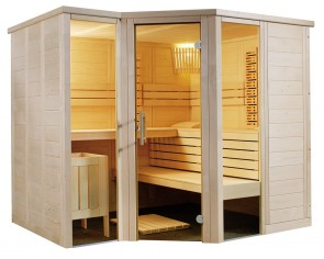 Kombinovaná rohová sauna Trident Infra+, 234x206