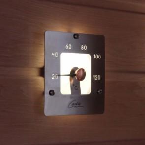 Cariitti štvorcový teplomer do sauny, koncovka pre optické vlákno