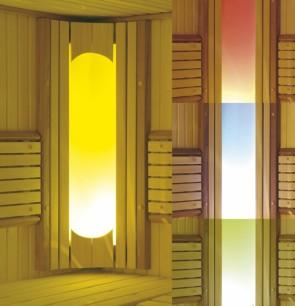 Saunové osvetlenie Harvia, halogénová farebná terapia, Solar