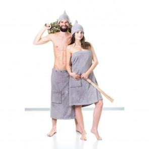 Kilt do sauny, NordicSPA-grey, froté 80x145cm