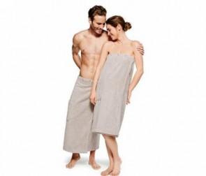 Kilt do sauny, unisex, béžový
