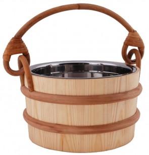 Vedro do sauny s nerezovou vložkou, 3 litre