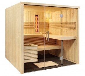 Kombinovaná sauna Panoráma L infra+, 214x210