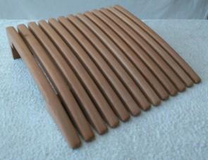 Saunový podhlavník, termizovaná osika, zvislé latky