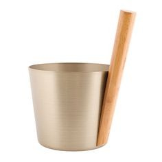 Hliníkové vedro Rento s rukoväťou, farba šampanského, 5 litrov